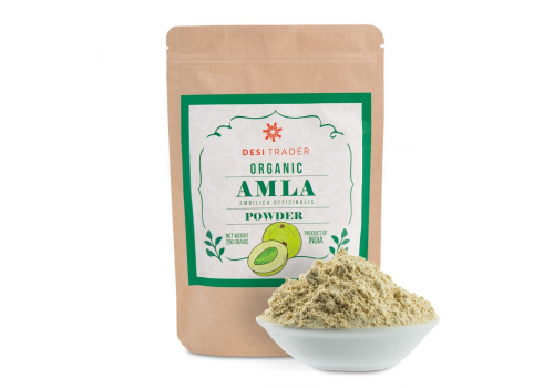 Organic Amla Powder 7 oz,  100% Pure Amalaki Powder – Fresh, Vegan & Natural Non-GMO, Gluten-Free Indian Gooseberry Powder in Resealable Bag