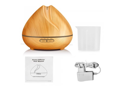 400ml Wood Grain Essential Oil Diffuser Ultrasonic Cool Mist Humidifier for Office or Home