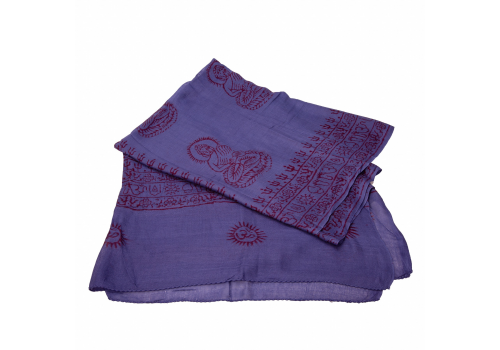 Beautiful Yogini Scarf with Buddha and OM prints