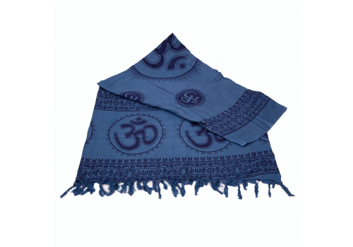 Beautiful Yogini Scarf with OM Print - Blue