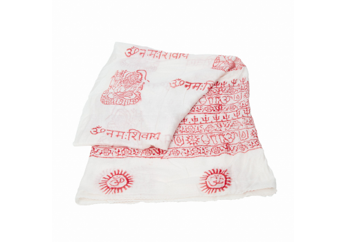 Beautiful Yogini Scarf with Lord Shiva Print - Ivory