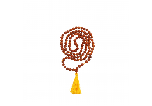 Rudraksha Prayer Mala with 4 mm and 5 faced beads