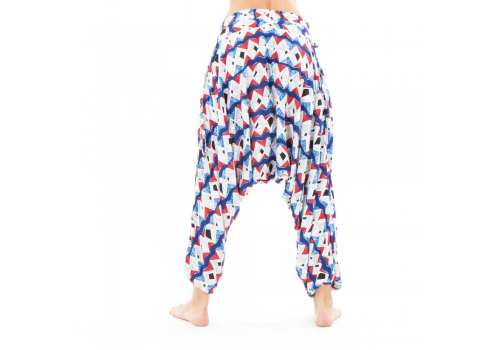 Snake Eye Moroccan Cotton Harem Pants