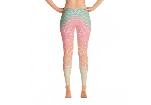 Bandhni Inspired Peach Leggings