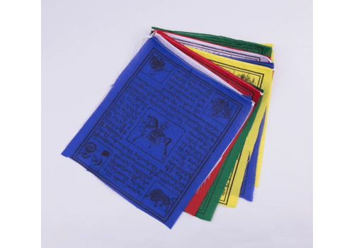 High Quality Polyster 5.5*6 Prayer Flag Set Made In Nepal