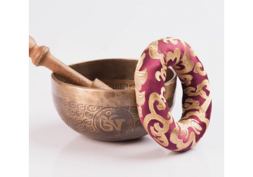 Handmade Special Tibetan Mantra Etched & Carved Healing Faith Singing Bowl