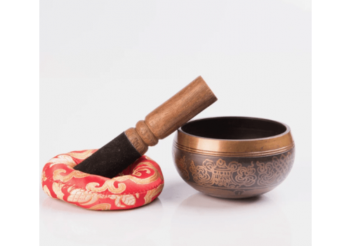 Special Etching Carving Antique Tibetan Singing Bowl For Sound Therapy